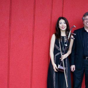 Corey Hamm and Nicole Ge Li, the members of PEP (Piano and Erhu Project)